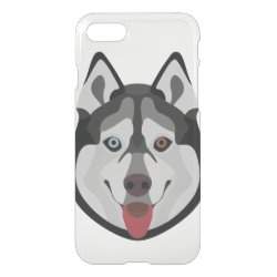 Uncommon iPhone 7 Clearly™ Deflector Case with Siberian Husky Phone Cases design