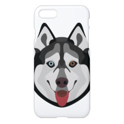 iPhone 7 Case with Siberian Husky Phone Cases design