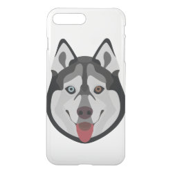 Uncommon iPhone 7 Plus Clearly™ Deflector Case with Siberian Husky Phone Cases design