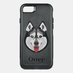 OtterBox Apple iPhone 7 Symmetry Case with Siberian Husky Phone Cases design