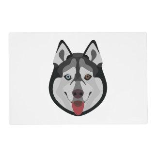 Illustration dogs face Siberian Husky Placemat