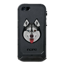 Incipio Feather Shine iPhone 5/5s Case with Siberian Husky Phone Cases design