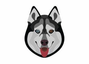 2251ca9323 Illustration dogs face Siberian Husky Zazzle HEART Tote Bag