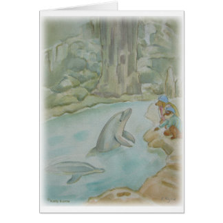 ILLUSTRATION -- 'Dolphin' Greeting Card