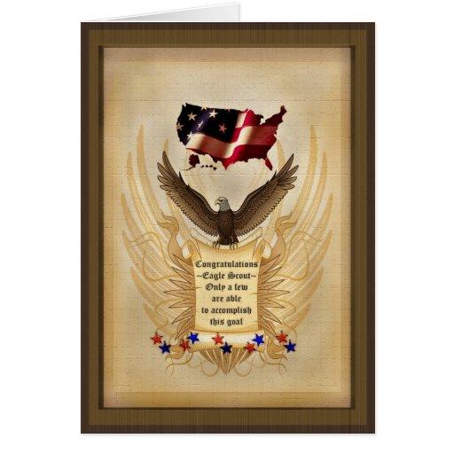 Illustration - Eagle - USA -  Achievement - Award Greeting Card