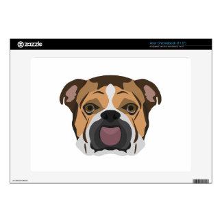 Illustration English Bulldog Acer Chromebook Skins