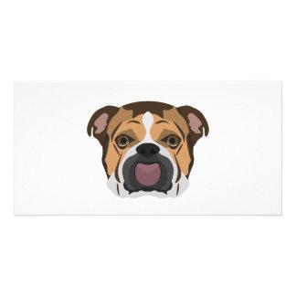 Illustration English Bulldog Card