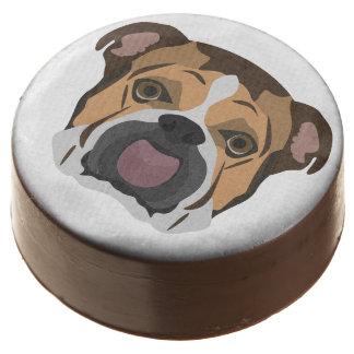 Illustration English Bulldog Chocolate Dipped Oreo