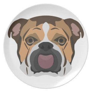 English Bulldog Plates | Zazzle