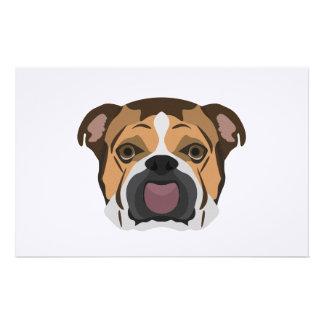 Illustration English Bulldog Stationery