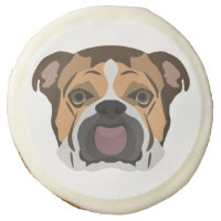 Illustration English Bulldog Sugar Cookie