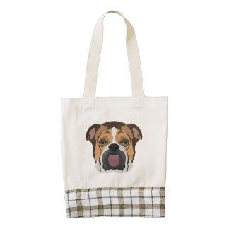 Illustration English Bulldog Zazzle HEART Tote Bag
