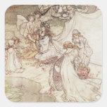 Illustration for a Fairy Tale Square Sticker