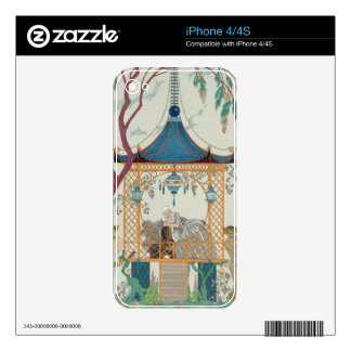 Illustration for 'Fetes Galantes' by Paul Verlaine Skin For The iPhone 4S