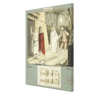 Illustration for Mozart s The Magic Flute 1845 Stretched Canvas Prints