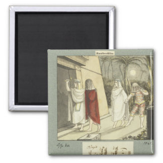 Illustration for Mozart s The Magic Flute 1845 Magnets