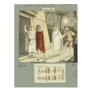 Illustration for Mozart s The Magic Flute 1845 Post Card