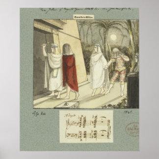 Illustration for Mozart s The Magic Flute 1845 Print