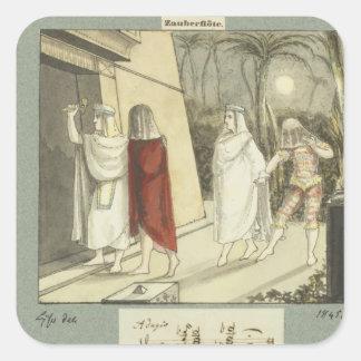 Illustration for Mozart s The Magic Flute 1845 Sticker