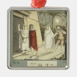 Illustration for Mozart's 'The Magic Flute', 1845 Metal Ornament