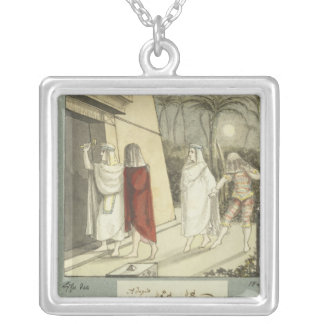 Illustration for Mozart's 'The Magic Flute', 1845 Square Pendant Necklace