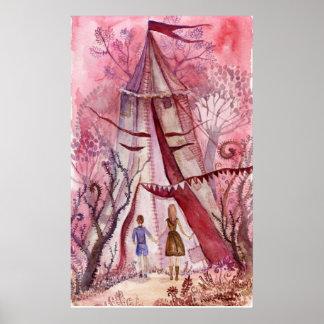 Illustration for Neil Gaiman book Posters