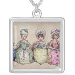 Illustration for 'St. Valentines Day', 1914 Square Pendant Necklace
