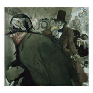 Illustration for The Nose by Nikolai Gogol Poster