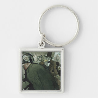 Illustration for The Nose by Nikolai Gogol Silver-Colored Square Keychain