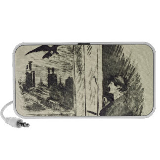 Illustration for 'The Raven' iPod Speakers