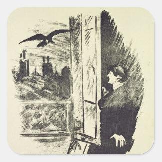 Illustration for 'The Raven' Square Sticker