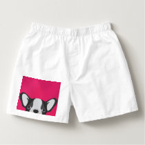 Illustration French Bulldog with pink background Boxers