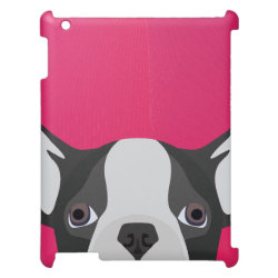 Case Savvy Glossy Finish iPad Case with Bulldog Phone Cases design