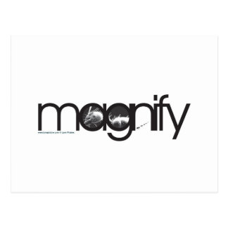 Illustration Friday: Magnify Postcard