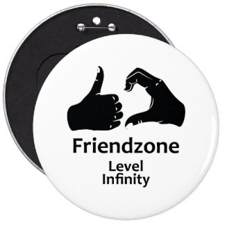 Illustration Friendzone Level Infinity Pinback Button