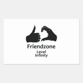 Illustration Friendzone Level Infinity Rectangular Sticker