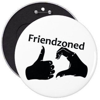 Illustration Friendzoned Hands Shape Button