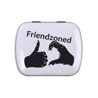 Illustration Friendzoned Hands Shape Candy Tins