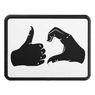 Illustration Friendzoned Hands Shape Hitch Cover
