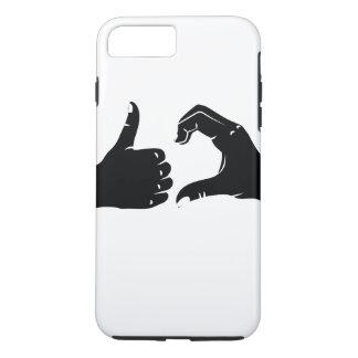 Illustration Friendzoned Hands Shape iPhone 8 Plus/7 Plus Case