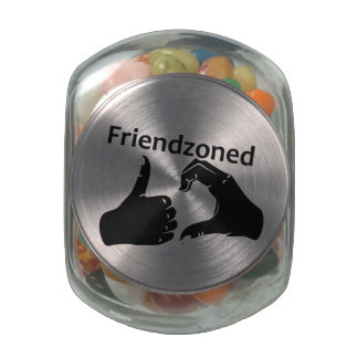 Illustration Friendzoned Hands Shape Jelly Belly Candy Jar