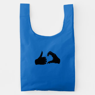 Illustration Friendzoned Hands Shape Reusable Bag