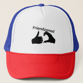 Illustration Friendzoned Hands Shape Trucker Hat