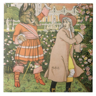 Illustration from Beauty and the Beast, 1901 (colo Tile