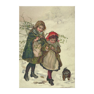 Illustration from Christmas Tree Fairy, pub. 1886 Canvas Print
