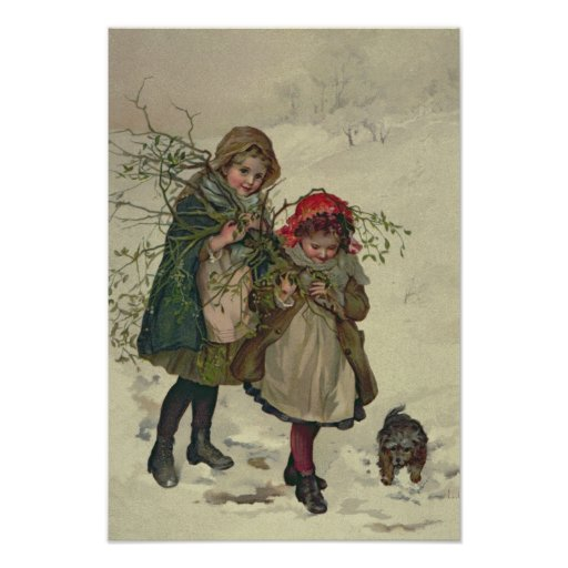 Illustration from Christmas Tree Fairy, pub. 1886 Posters