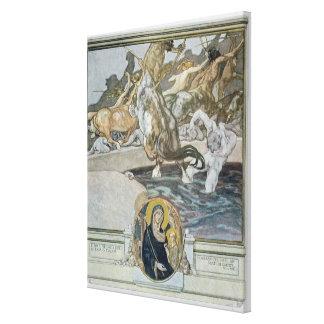 Illustration from Dante's 'Divine Comedy' Canvas Print