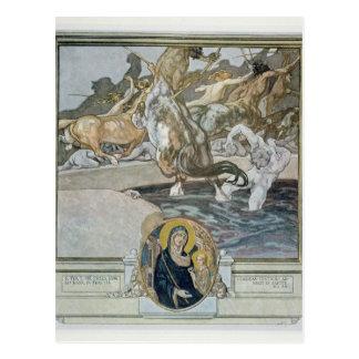 Illustration from Dante's 'Divine Comedy' Postcard