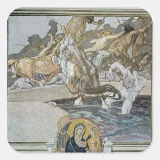 Illustration from Dante's 'Divine Comedy' Square Sticker