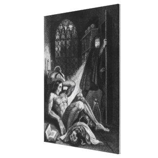 Illustration from 'Frankenstein' Canvas Print
